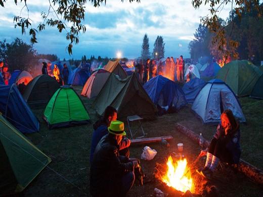 Правильный выбор места для палатки