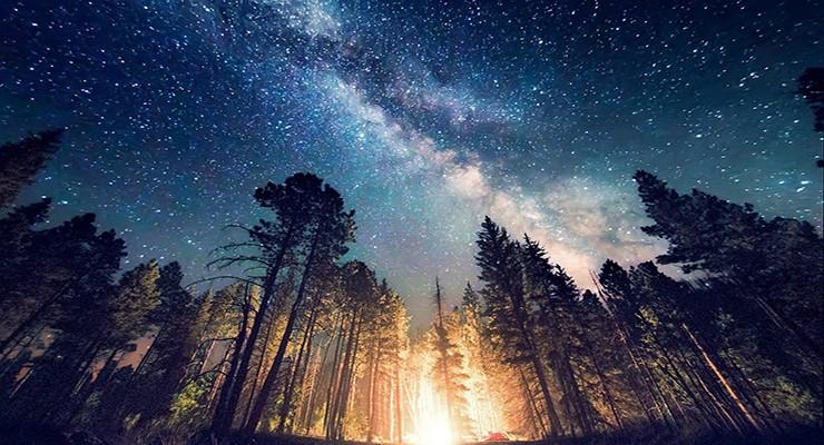 Ориентирование ночью по звездам, луне, небесным светилам