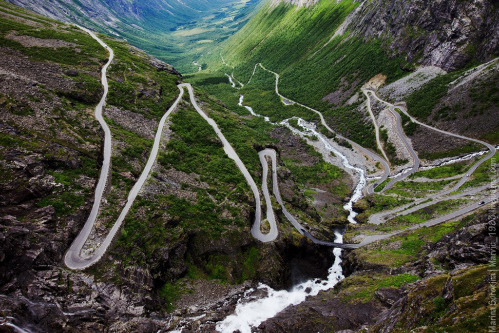 дорога троллей Норвегия