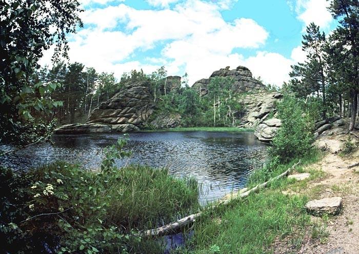 Озеро Моховое на Алтайском крае