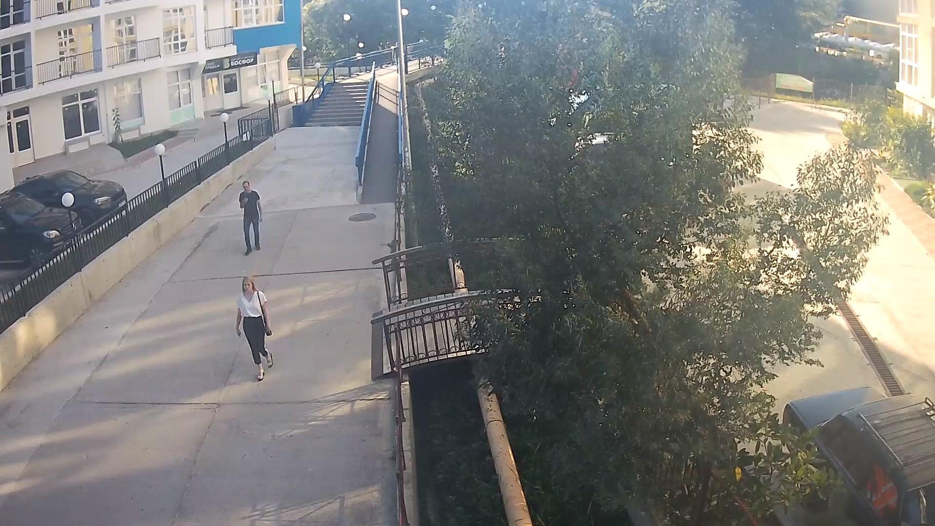 Вебкамера в пос. Дагомыс, ул. Гайдара, мост