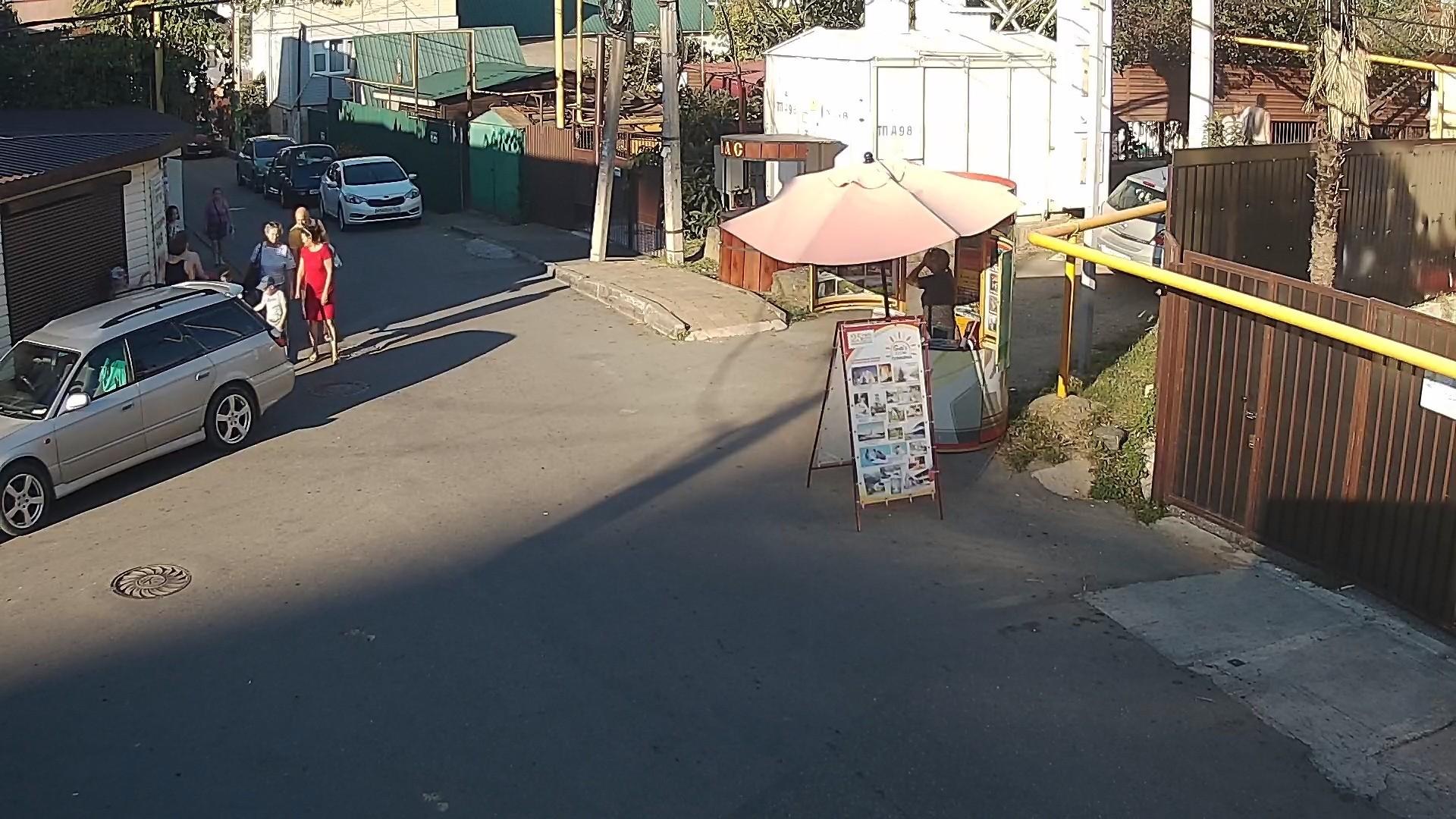 Вебкамера в Дагомысе на перекрестке ул. Армавирская и ул. Старошоссейная