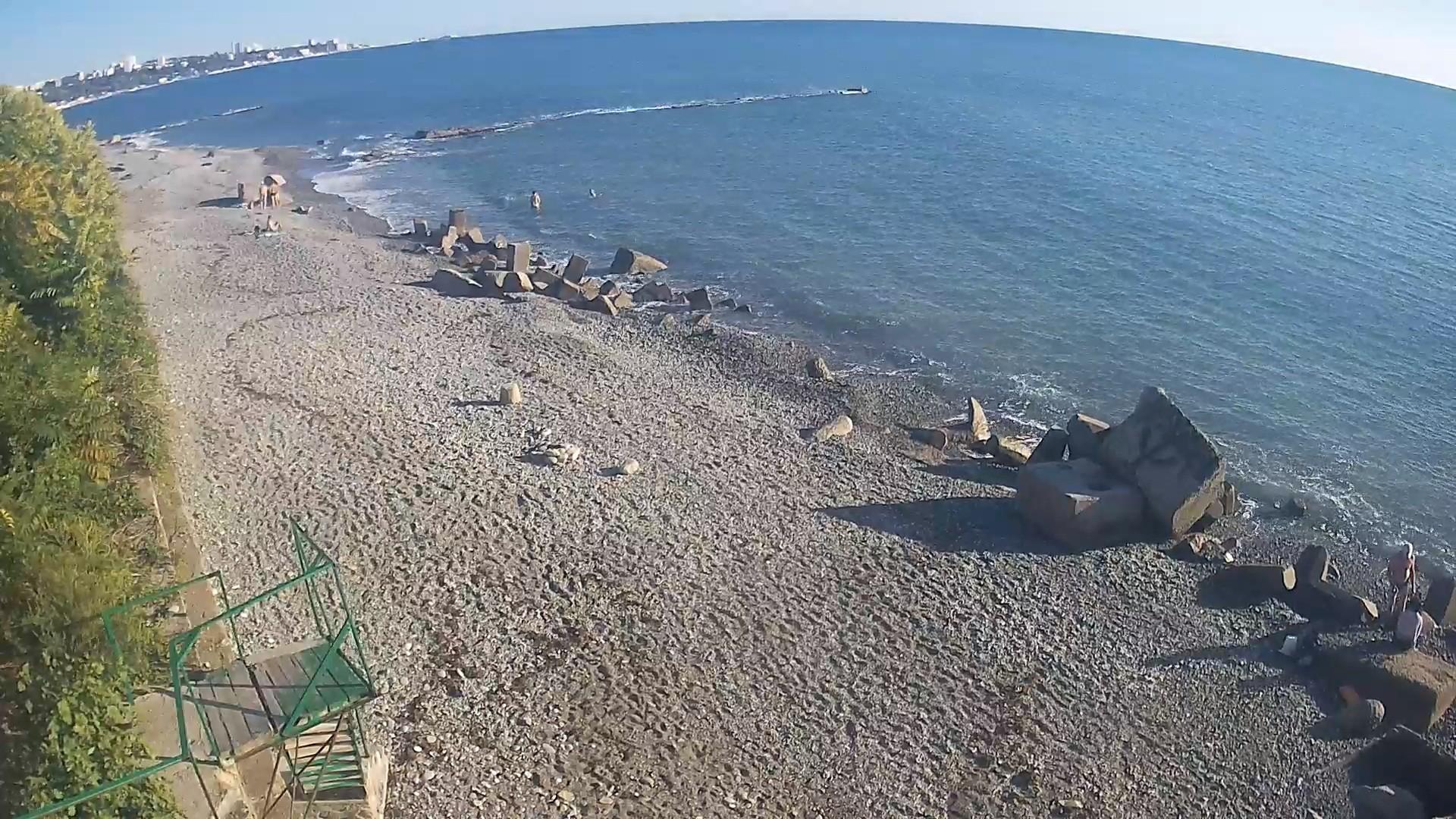 Вебкамера в Дагомысе на 73км, пляж в сторону Сочи