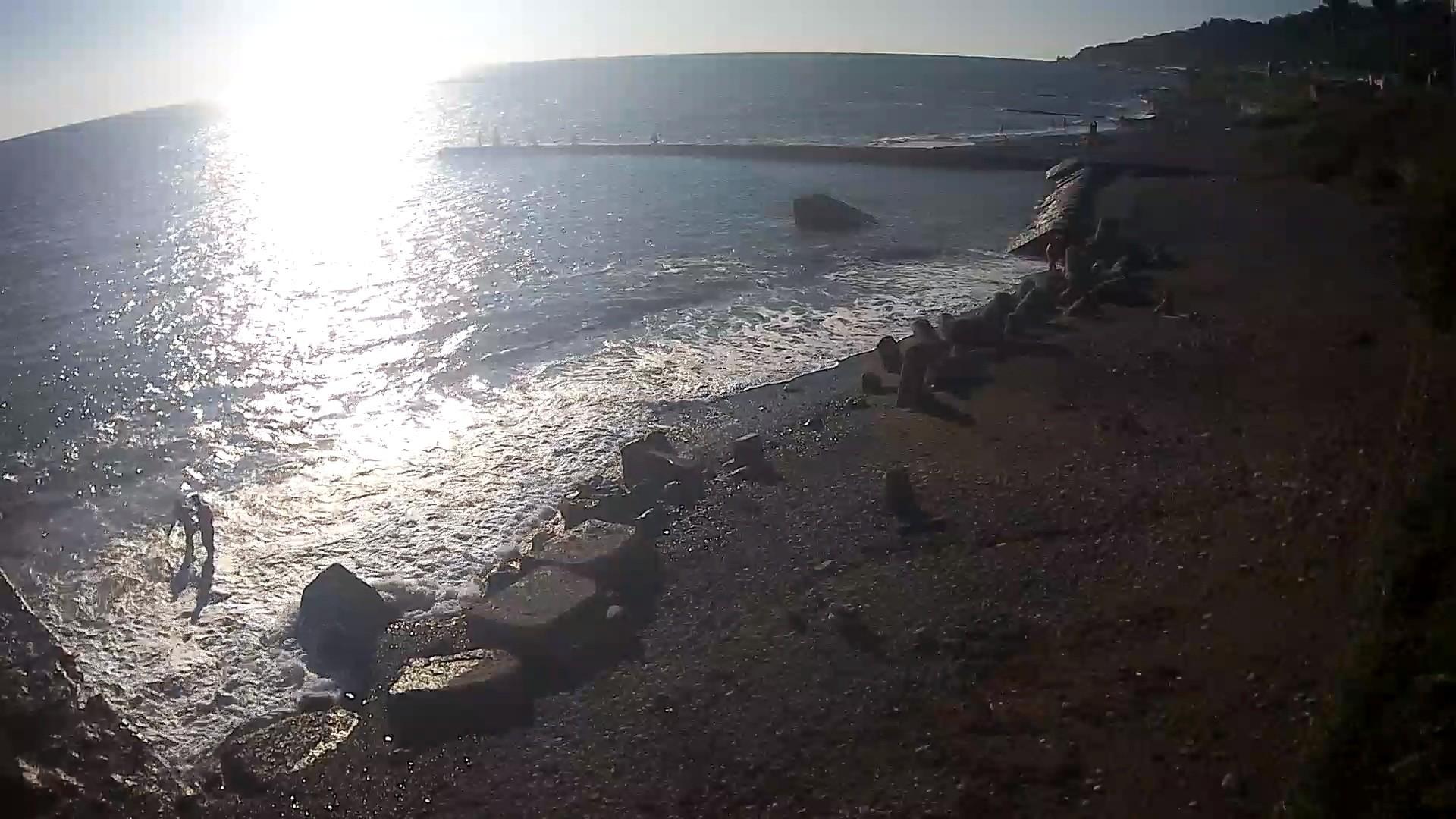 Вебкамера в Дагомысе на 73км, пляж в сторону Дагомыса