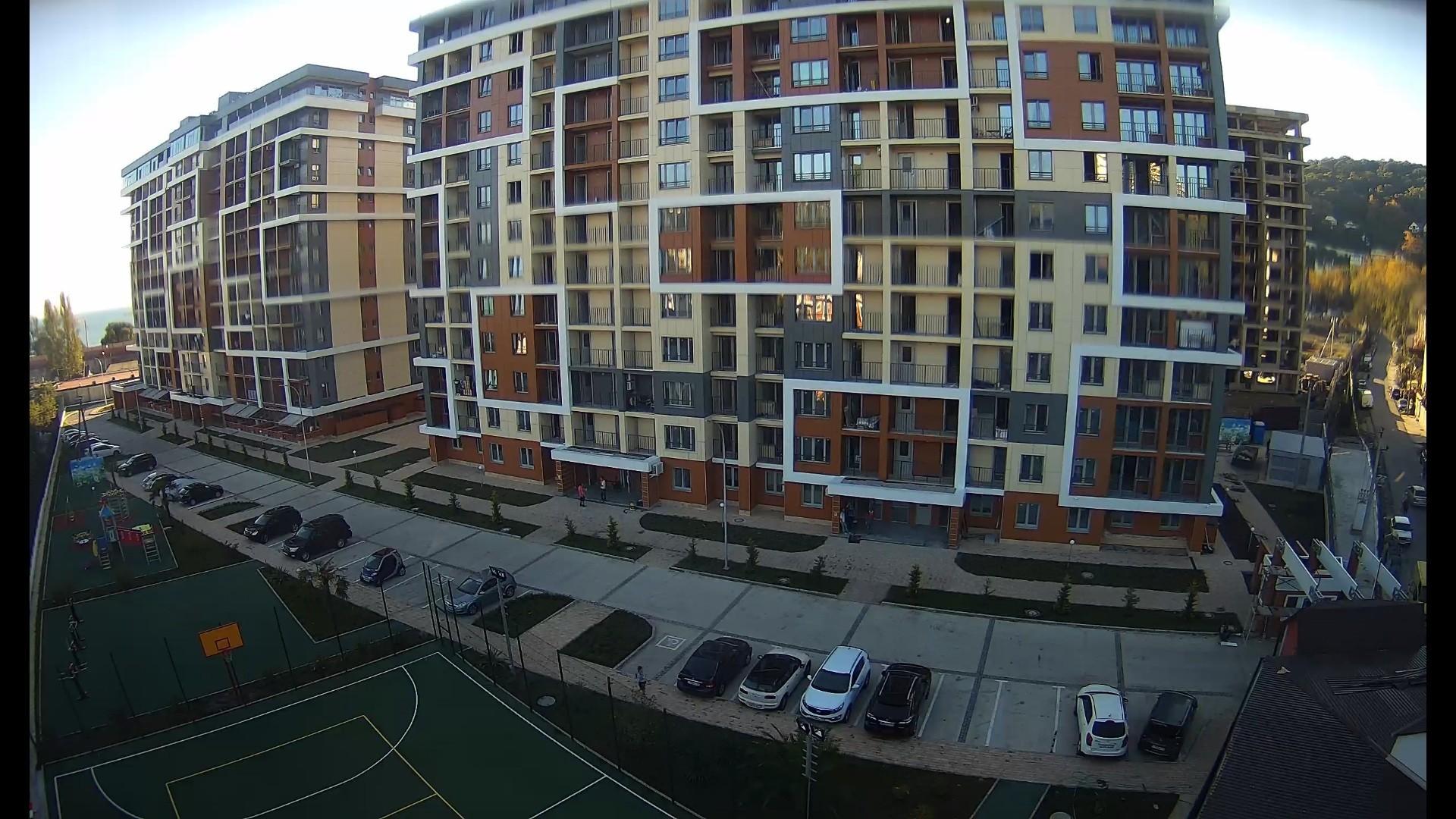Вебкамера на строй площадке ЖК «Каравелла Португалии» в пос. Дагомыс г. Сочи
