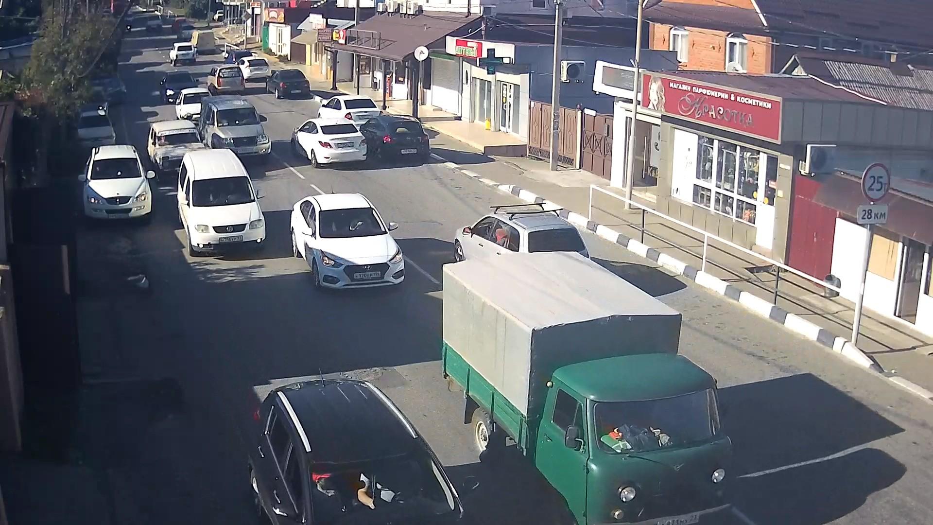Вебкамера на Армавирской, дорога в сторону пос. Солох-Аул