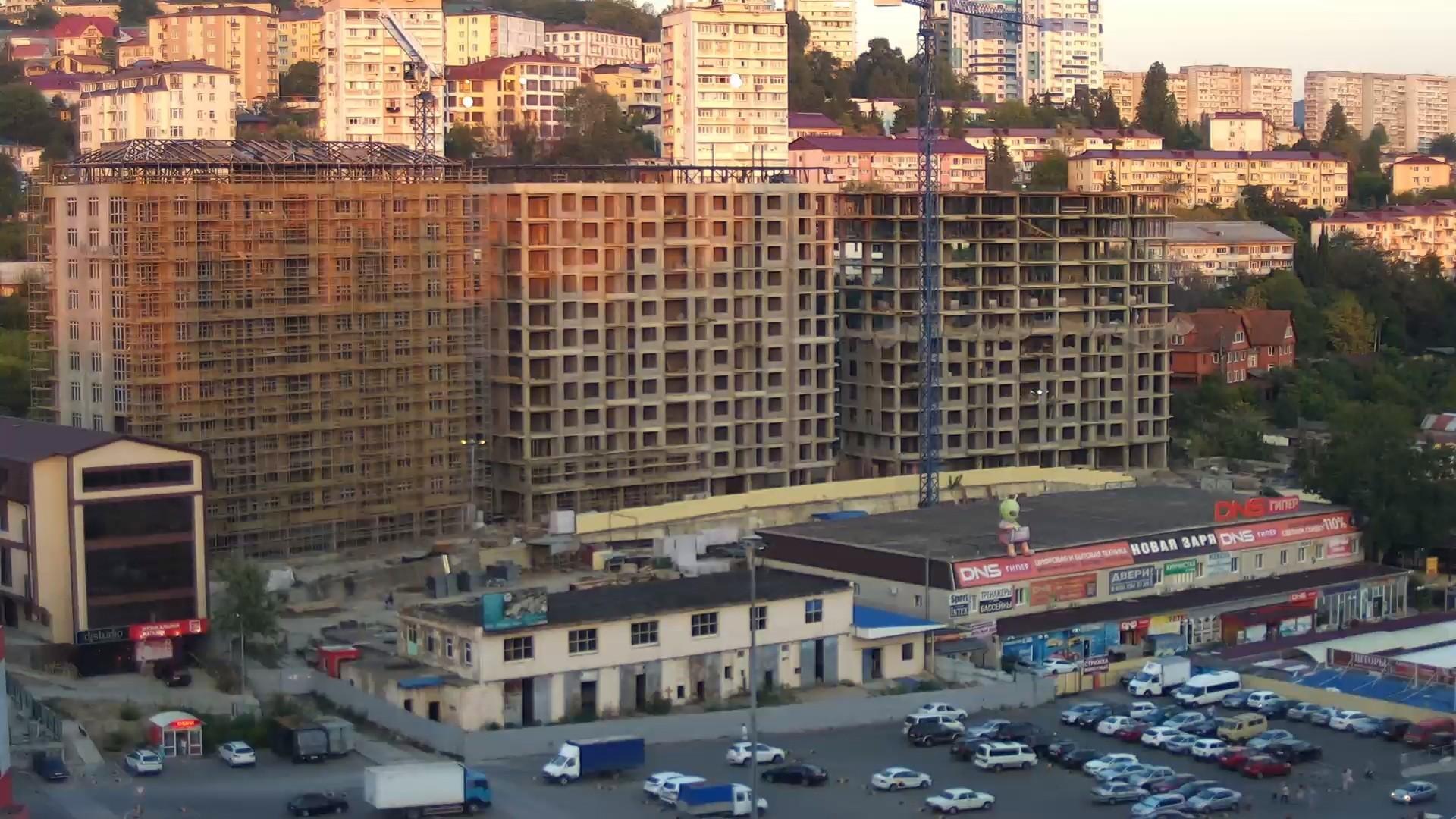 Вебкамера в ЖК «Новая Заря» г. Сочи