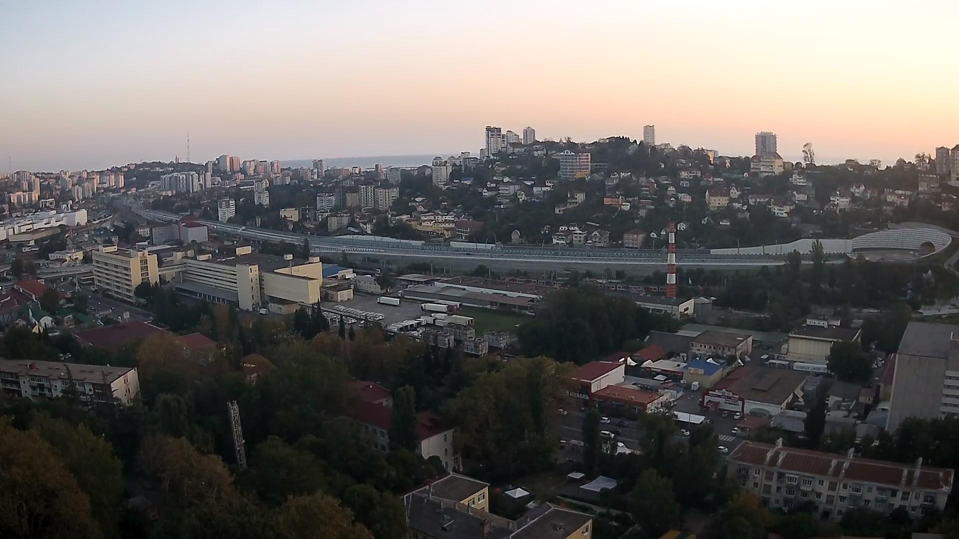 Вебкамера Панорама «Дублер курортного проспекта» в г. Сочи