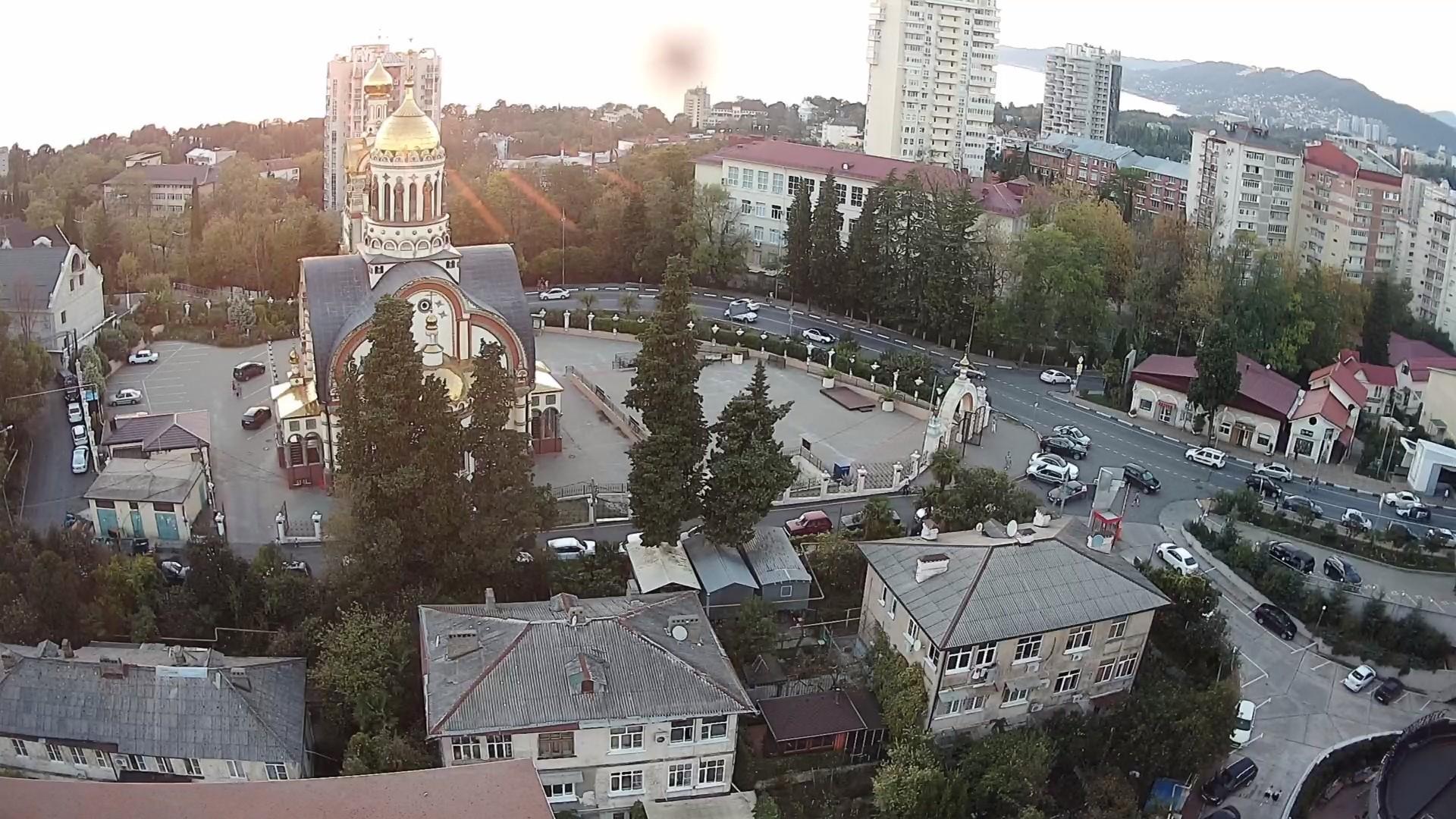 Вебкамера в г. Сочи вид на храм князя Владимира