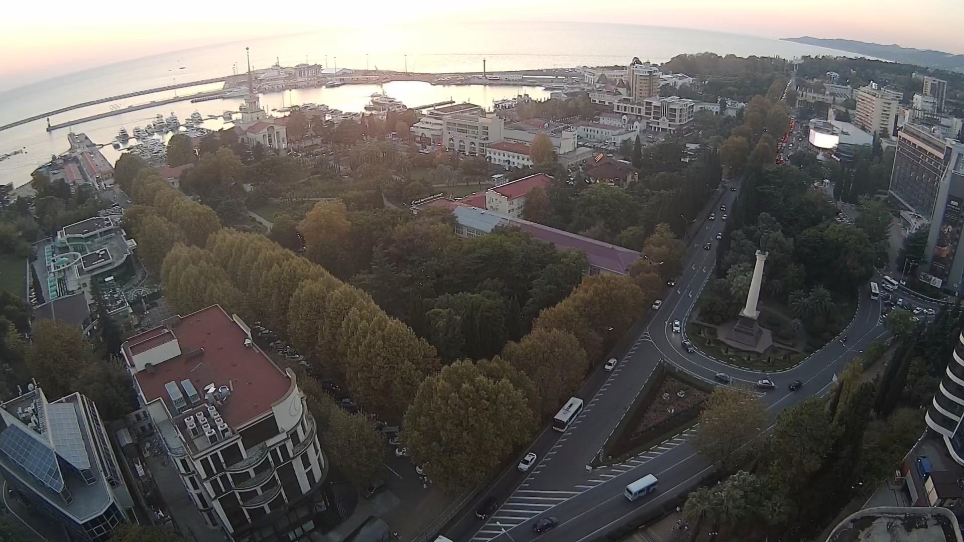 Вебкамера в г. Сочи, Панорама города
