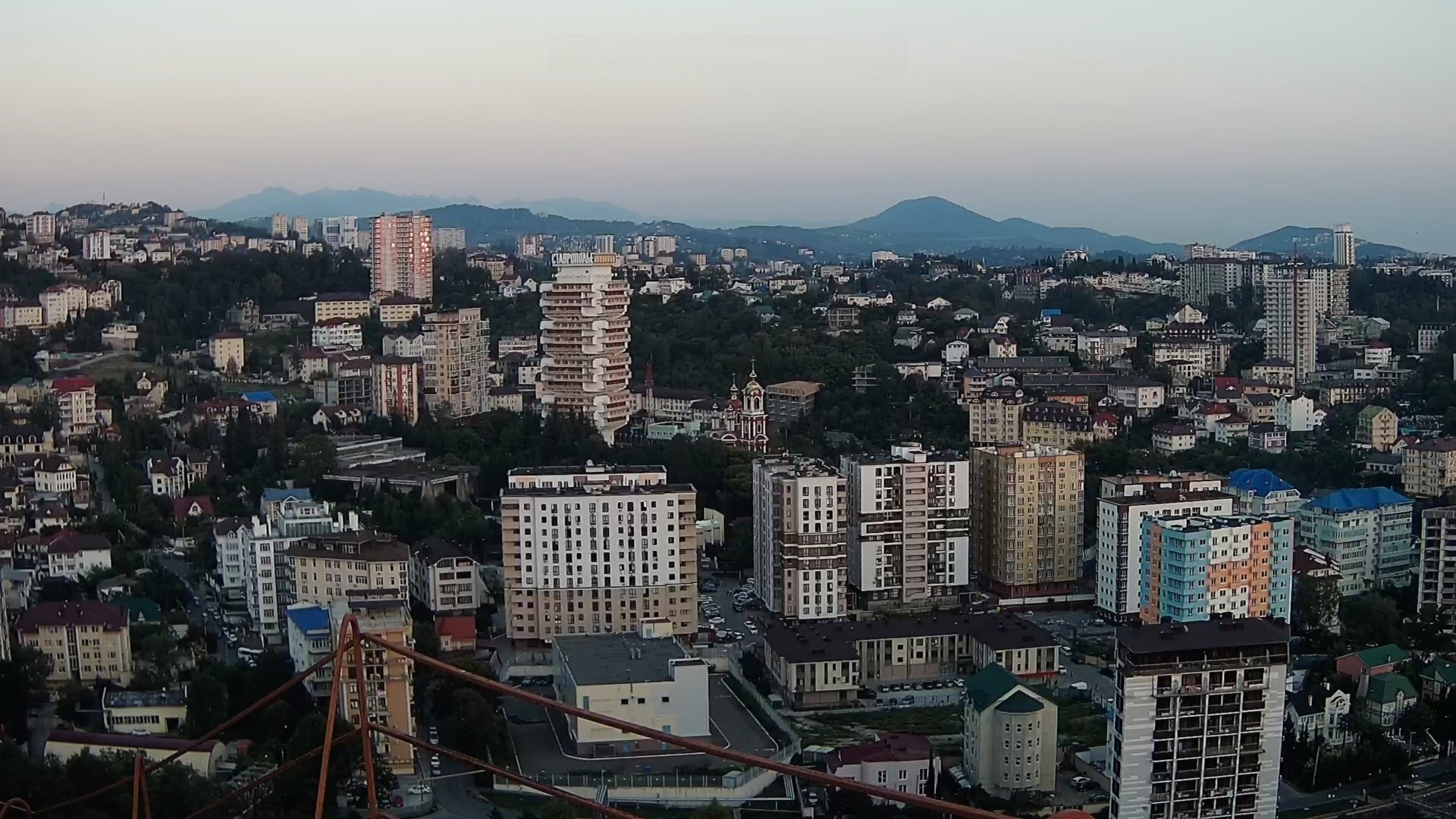 Вебкамера в г. Сочи, панорама микрорайона Мамайка
