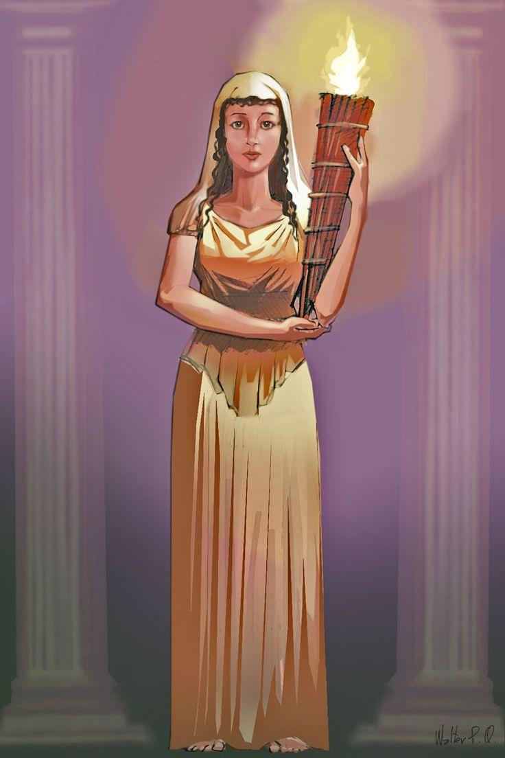 Греческая богиня Веста
