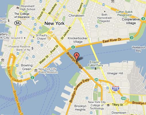 Бруклин на карте Нью-Йорка