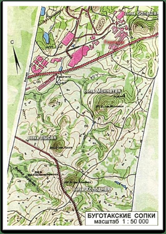 Буготакские сопки на карте