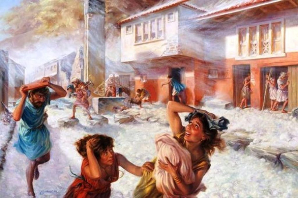 Помпеи извержение Везувия