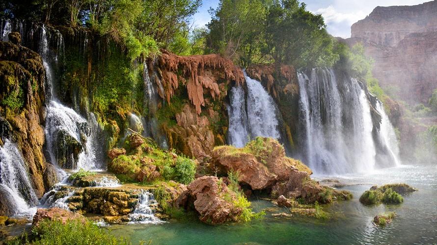 Водопад Хавасу в Гранд Каньоне