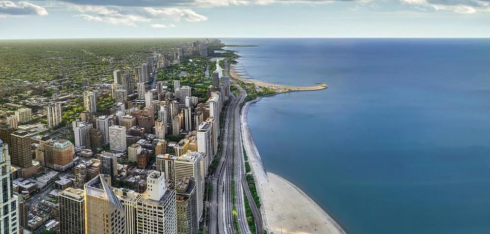 Чикаго озеро Мичиган