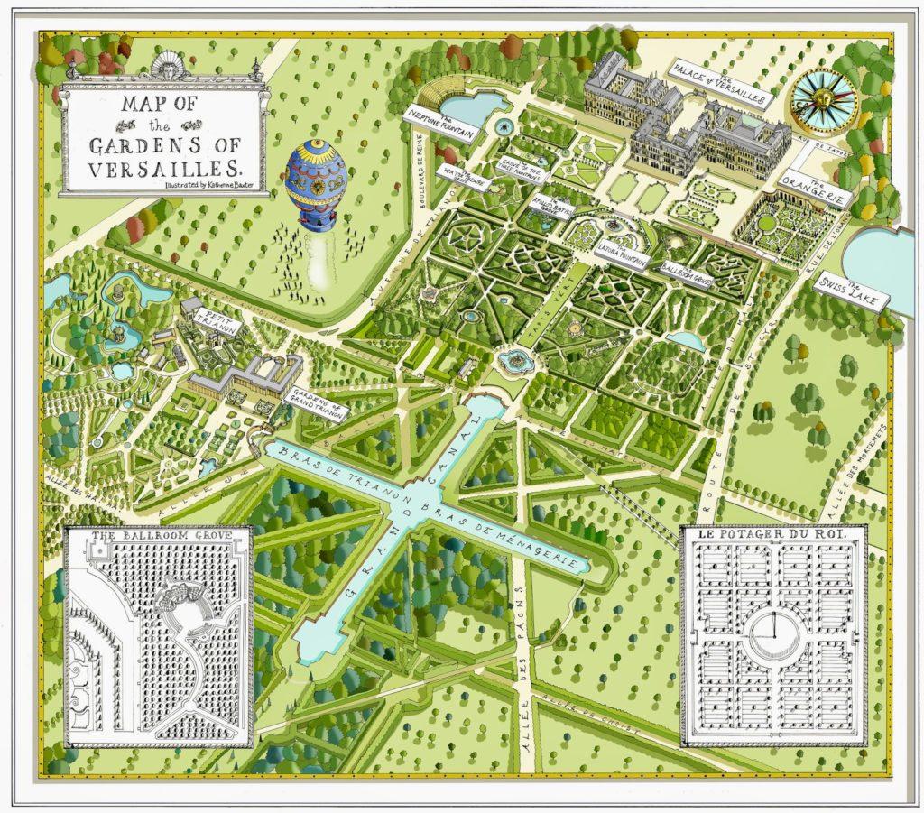 План схема Версаля