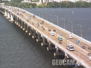 Веб-камера на новом мосту в Днепропетровске