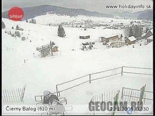 Веб-камера горнолыжного курорта Cierny Balog