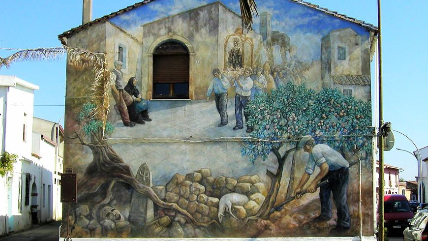 Мурализм Сан Сперате и сад поющих камней - экскурсии