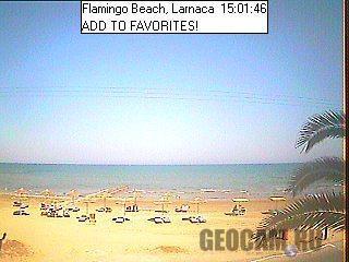 Веб-камера на пляже Фламинго, Ларнака, Кипр