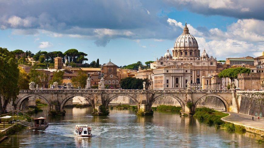 Утренний Рим с купола Собора Святого Петра - экскурсии
