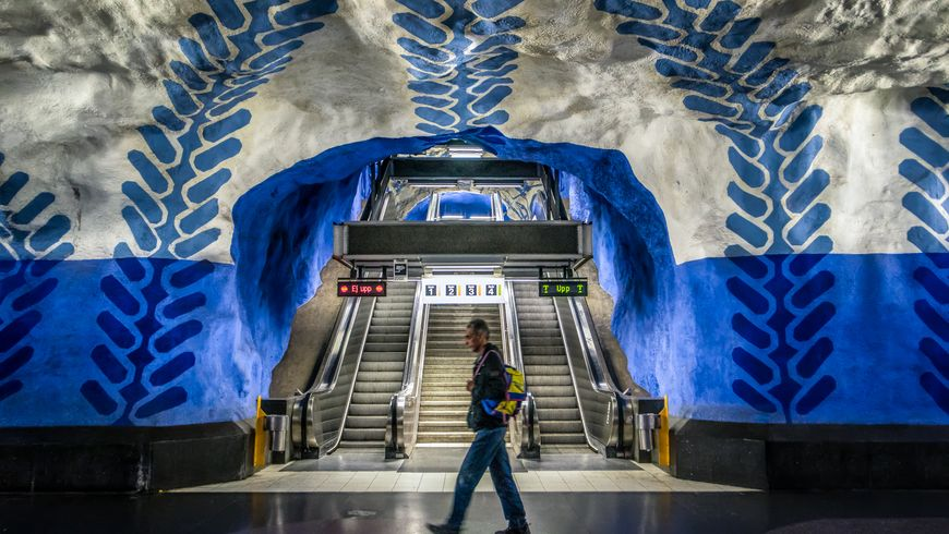 Стокгольмское метро – волшебная подземная пещера! - экскурсии