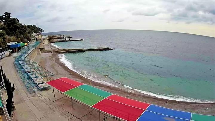 Веб-камера на пляже санатория Ай-Петри, Крым