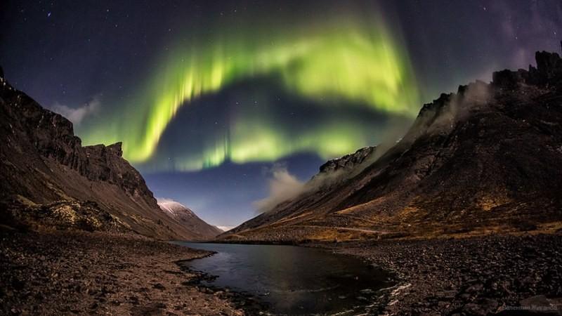Хибины Северное сияние фото