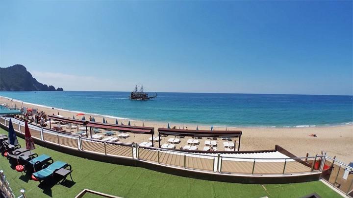 Веб-камера на пляже Клеопатры, Аланья, Турция