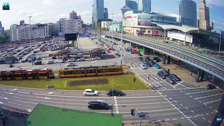Дорожная веб-камера на Сорокалетнем перекрёстке в Варшаве