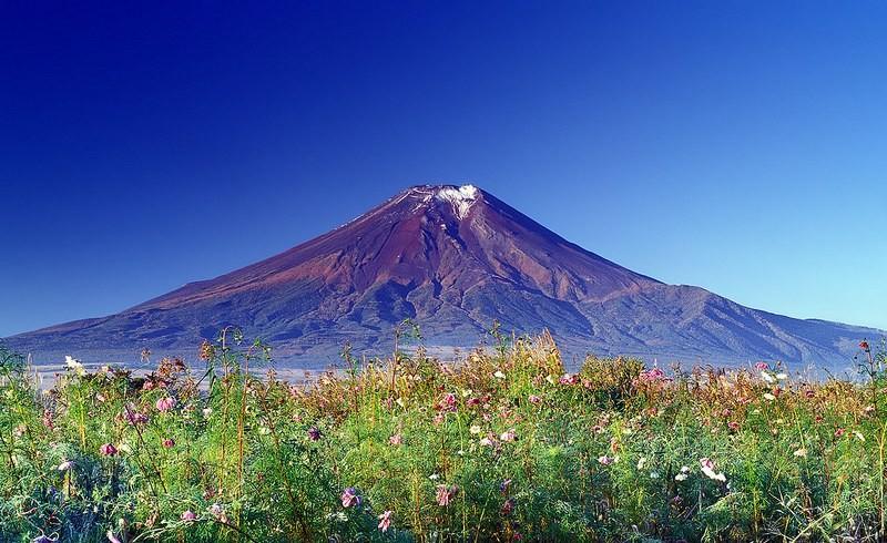 Гора Фудзияма в Японии