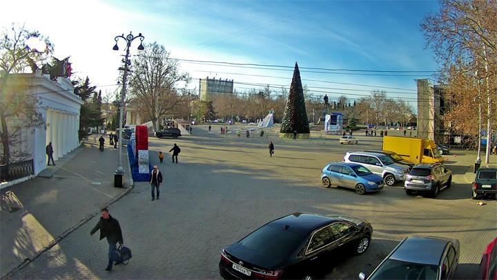 Веб-камера у Графской пристани в Севастополе