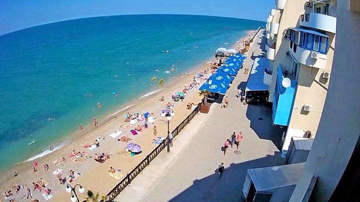 Веб-камера на пляже комплекса Наш Парус, Кача, Севастополь, Крым