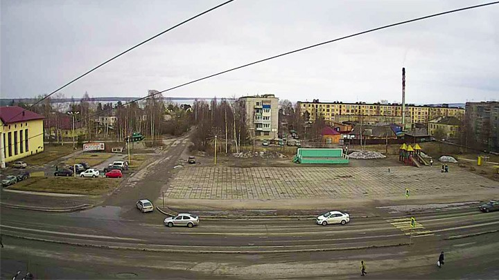 Веб-камера на Площади Кирова в Медвежьегорске