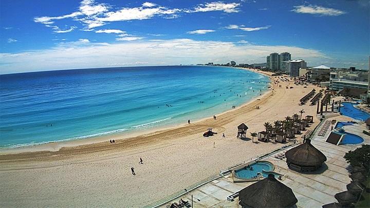 Веб-камера пляжа Пунта Канкун