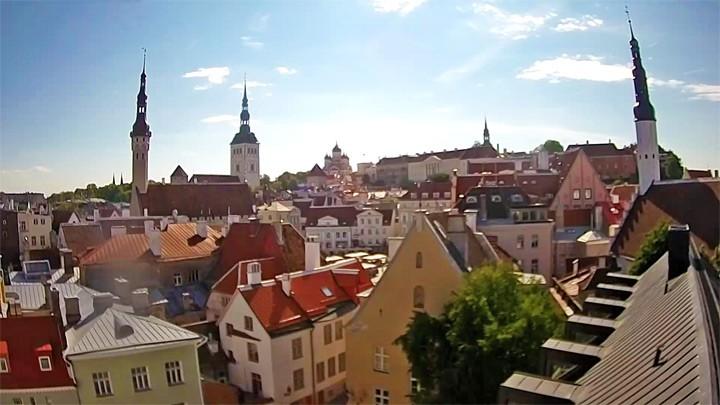 Онлайн вид на Старый город Таллина