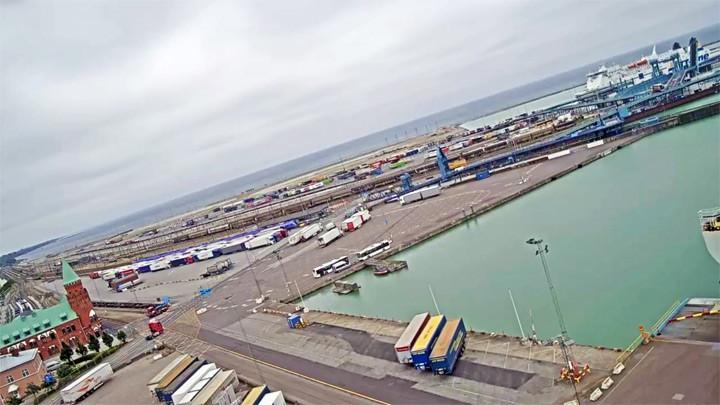 Веб-камера в Треллеборгском порту: центральная станция