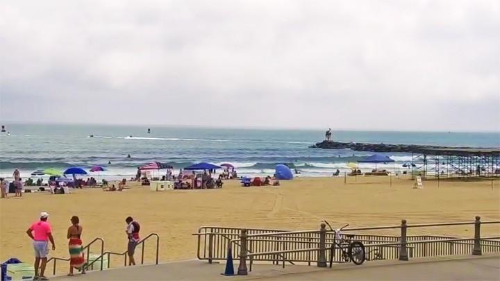 Пляжная веб-камера города Вирджиния-Бич