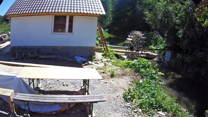 Веб-камера у водяной мельницы в посёлке Заокский