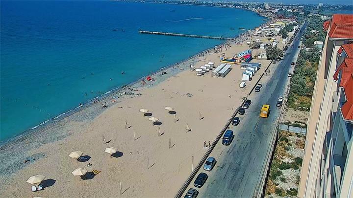 Веб-камера пляжа Золотые пески (Евпатория, Крым)