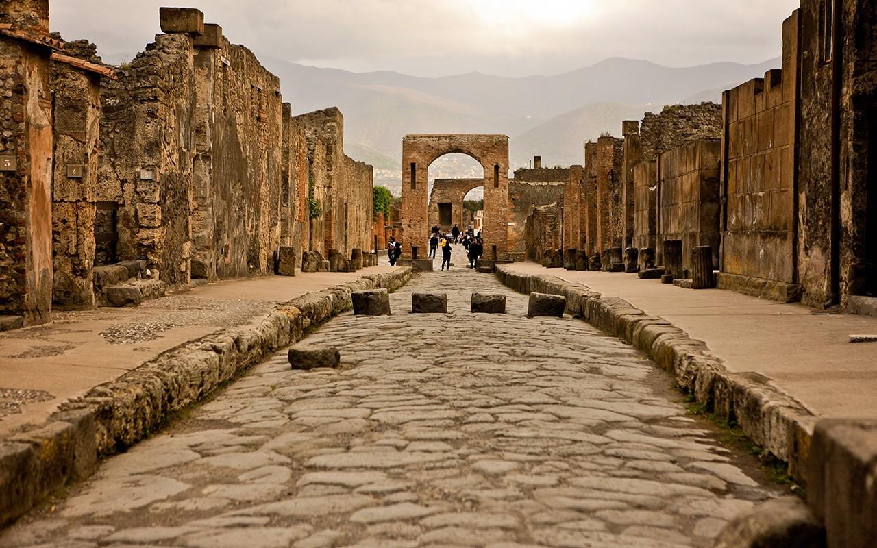 Город Помпеи в Италии