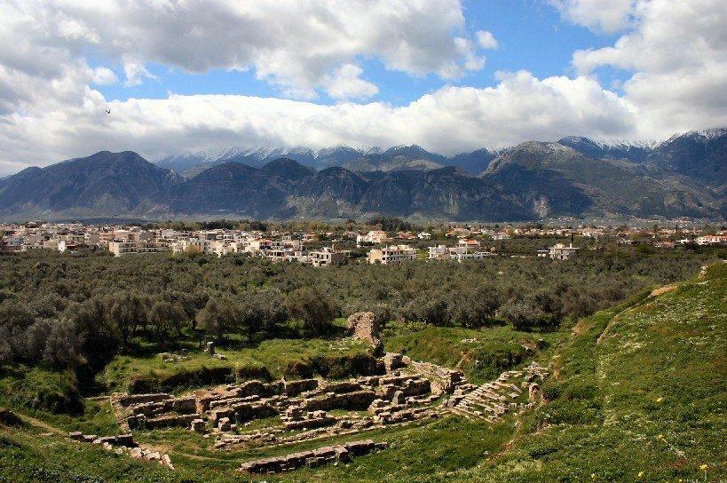Город Спарта в Греции