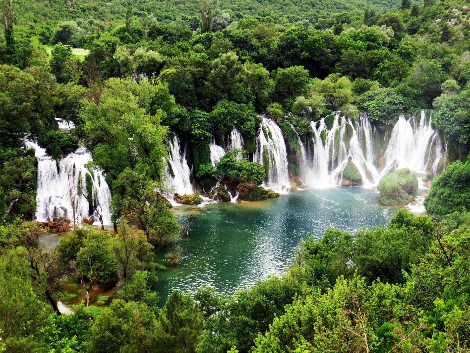 Водопад Кравице на Требижаце