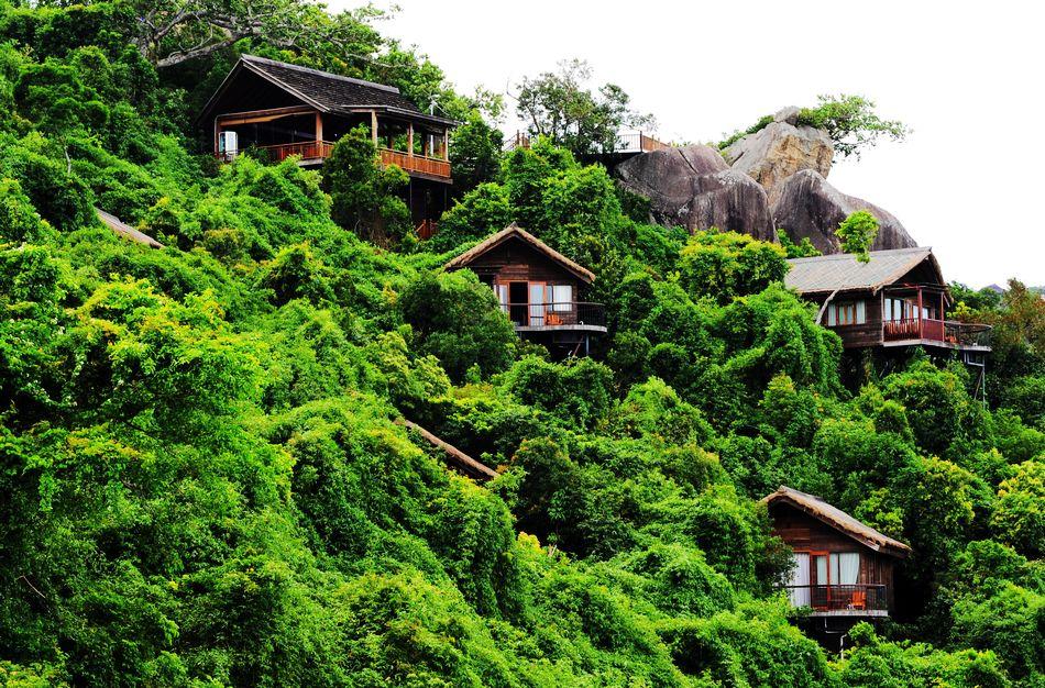 Тропический парк возле озера Дуньшань