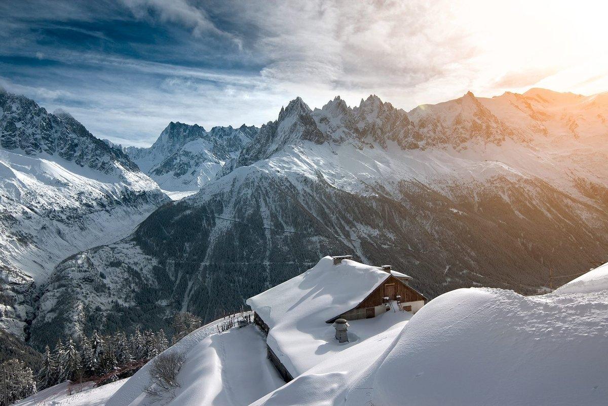 Долина Шамони в Альпах
