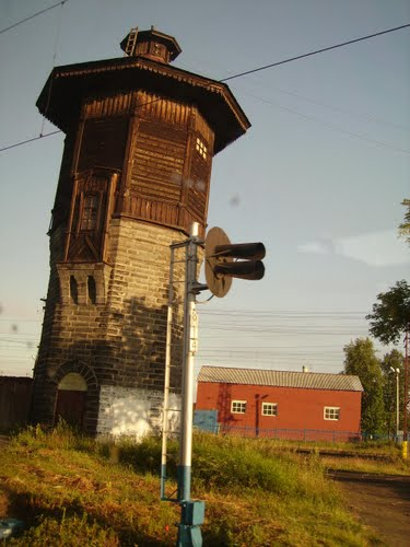 Водонапорная башня в поселке Калино